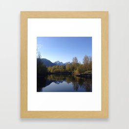 Three Sisters Reflection Framed Art Print