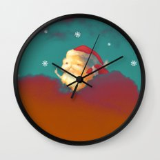 Santa Clouds Wall Clock