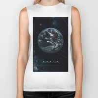 earth Biker Tanks featuring EARTH  by Alexander Pohl