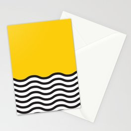 Waves of Yellow Stationery Cards