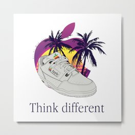 Apple vaporwave Metal Print