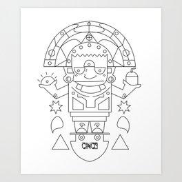 El Barto Sun God Art Print