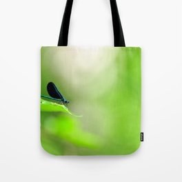 Blue Damsel and the Lime Green Sky Tote Bag