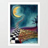 psychedelic Art Prints featuring Psychedelic by Eleni Dreamel
