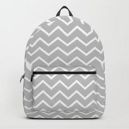 Zigzagged (White & Gray Pattern) Backpack