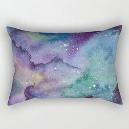 Watercolor Galaxy Rectangular Pillow