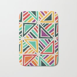 Quilt abstract art Bath Mat