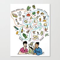 totes Canvas Prints featuring Totes Hungry! by Dave Valeza