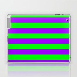 Green and Purple Stripes Laptop & iPad Skin