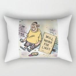 Begging For Likes  Rectangular Pillow