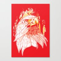 eagle Canvas Prints featuring Eagle by KUI29