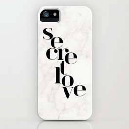 SECRET LOVE iPhone Case