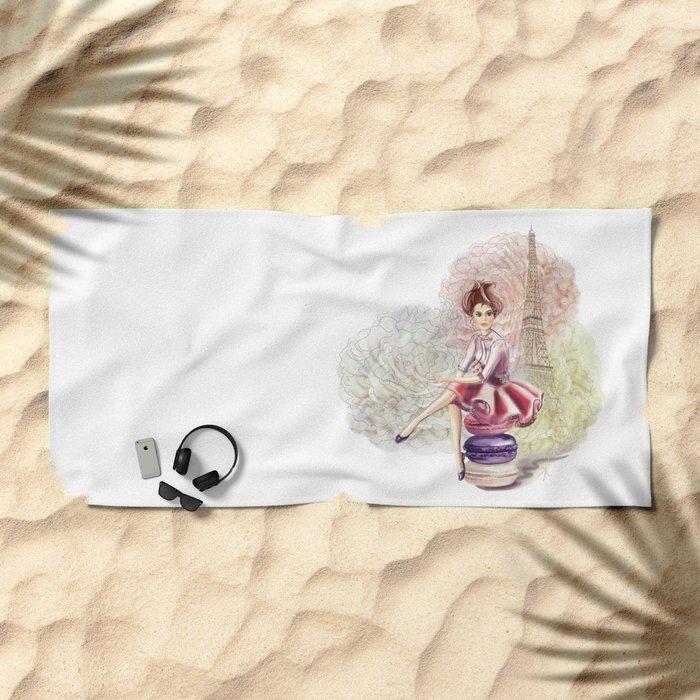 Sweet Paris Beach Towel