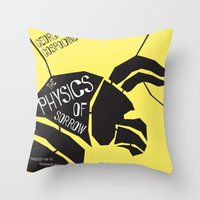 physics Throw Pillows featuring The Physics of Sorrow by Open Letter Books