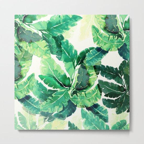 green summer leaves Metal Print