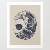 huebucket Art Prints featuring Swell by Huebucket