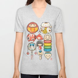Special Lucky Toy Box Unisex V-Neck