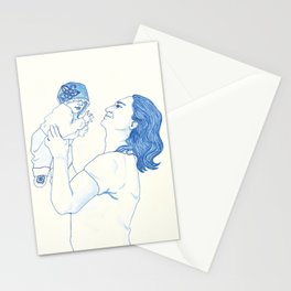 Portrait of a Father Stationery Cards