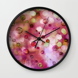 Cryptic fancy light in vibrant colors Wall Clock