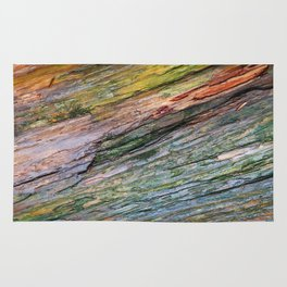 Water Colored Wood Texture Rug