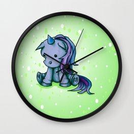 Itty Bitty Unicorn Wall Clock