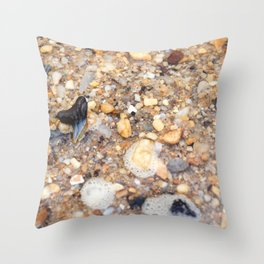 Virginia - Find the Fossil Shark Tooth Throw Pillow