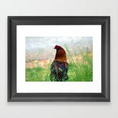 The Hen - Glance Back 730 Framed Art Print