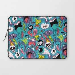 Doodled Pattern Laptop Sleeve