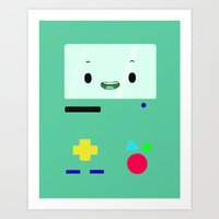 bmo Art Prints featuring BMO by Fynnit Art