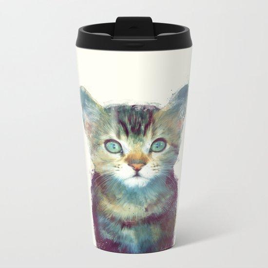 Cat // Aware Metal Travel Mug