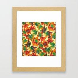Autumn maple leaves I Framed Art Print