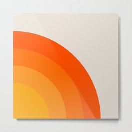 Sunrise Rainbow - Right Side Metal Print