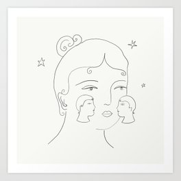 Kiss on the Cheeks Art Print