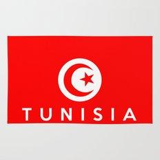 Tunisia country flag name text Rug