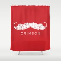 butcher billy Shower Curtains featuring Crimson Butcher by Jason Rutherford