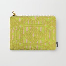 vintage kantha: chartreuse Carry-All Pouch