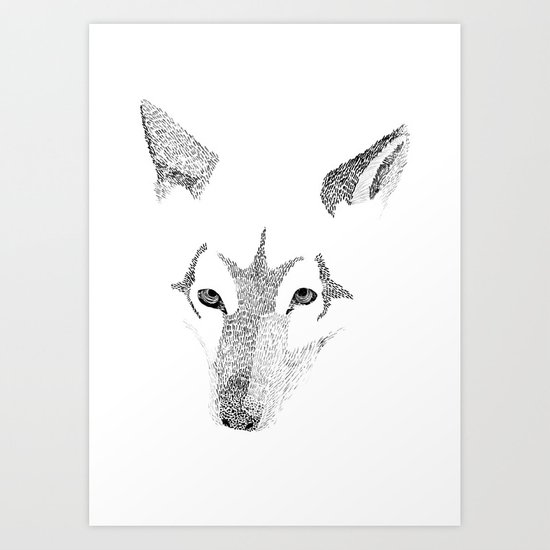 Red Wolf - Can You See How Much Is Left? Art Print
