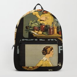 Vintage poster - Waste Not - Want Not Backpack