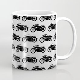 Antique Motorcycle // Light Grey Coffee Mug