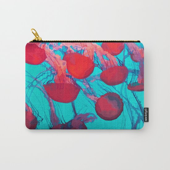 Bright Jellyfish Carry-All Pouch