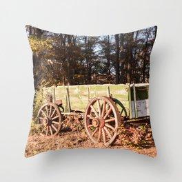 Fall farm days Throw Pillow