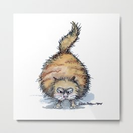 Fat Cat on The Prowl  Metal Print
