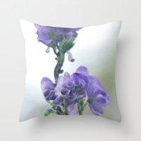 iris Throw Pillows featuring Iris by Bella Blue Photography