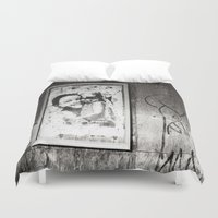 street art Duvet Covers featuring Street Art by Treadstowne