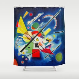 Blue Painting by Vasily Kandinsky - Vintage Painting Shower Curtain