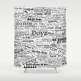 Under the same sky... (Black) Shower Curtain