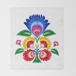 folk flower Throw Blanket