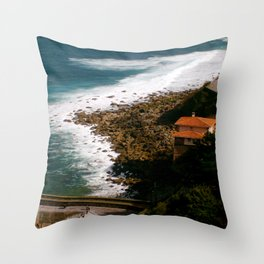 House by the Sea Throw Pillow