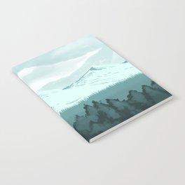 Icy Mountain Speedpaint Notebook