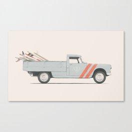 Surfboard Pick Up Van Canvas Print